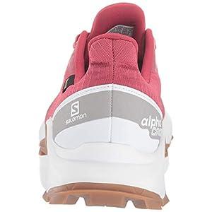 Salomon Women's Alphacross GTX Trail Running Shoes, Garnet Rose/White/GUM1A, 12