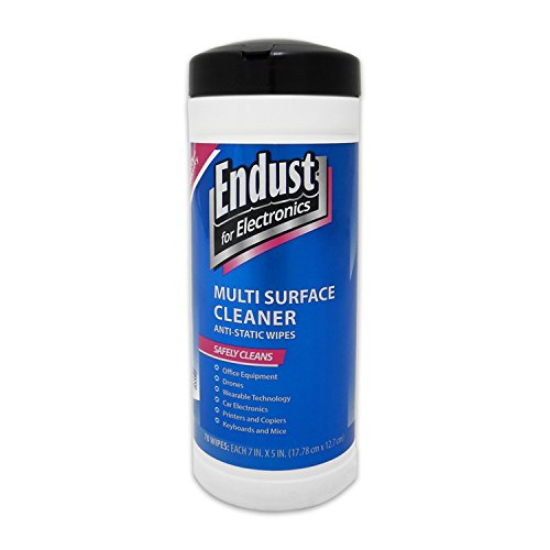 Endust for Electronics Multi-Surface Anti-Static Wipes (259000), 70-Count