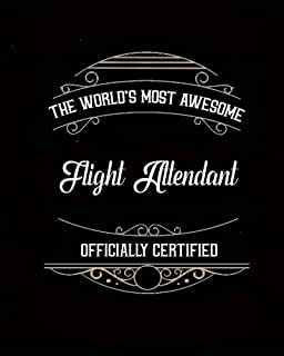 """Daily Organizer and Planner: Most Awesome Flight Attendant: 180 Day 8"""" x 10"""" Journal Notebook Day Planner"""
