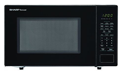 SHARP Black Carousel 1.1 Cu. Ft. 1000W Countertop Microwave Oven (ISTA 6 Packaging), Cubic Foot,...