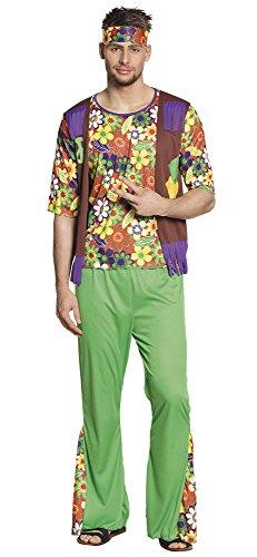Boland- Woodstock Hippie Figlio dei Fiori Costume Adulto (Taglia M Uomo, Multicolore, L, 87877