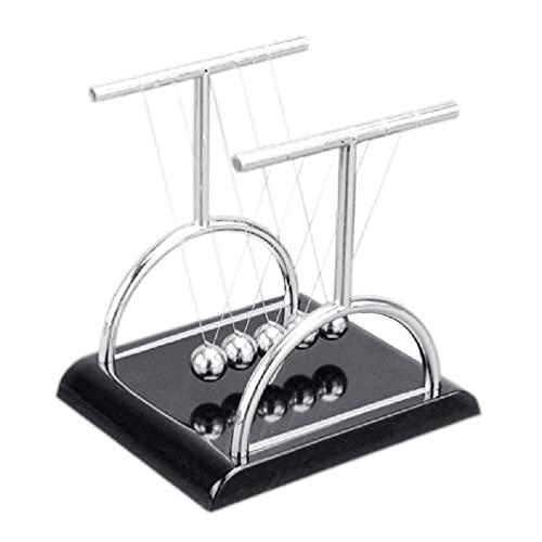 Newton's Cradle Fidget Desk Toy Péndulo Ball Conservación de la Display Metal Heavy Duty Ansiedad Toy Decoración de Oficina Juguetes de Ciencia para niños pequeños de 3 a 5 años Niños