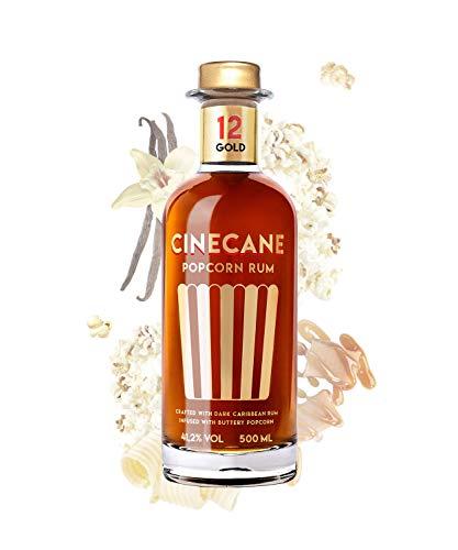 CINECANE Popcorn Rum Gold 12 | 41,2{e3ac89423ff0320ba5cced65ac7ef49a26a446279e62a2d91c61714c2f2f7076} | 0,5L | Destilliert mit echtem Popcorn