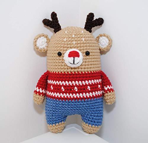 Renne peluche 18cm crocheté main Amigurumi Marshmallow Toys