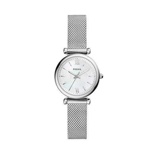 Fossil Damen Analog Quarz Uhr mit Edelstahl Armband ES4432