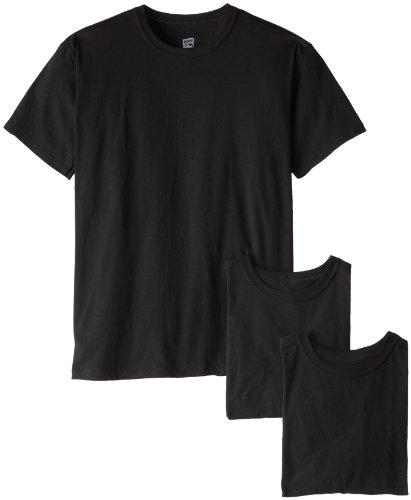 Soffe mens 3 Pack 4.3 Oz Cotton Military Tee, Black, Medium