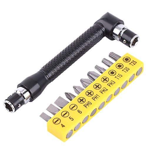 Juego de 10 destornilladores con mango de extensión en forma de L, destornilladores hexagonales de cabeza doble, destornillador plano Torx, herramienta de mano de kit