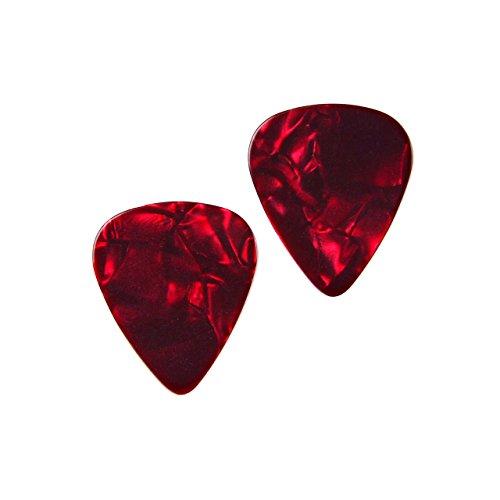 Quality Handcrafts Guaranteed Rot Gitarre Plektrum Manschettenknöpfe–Geschenk für Musiker–Geschenk für Lehrer–Geschenk-Box Enthalten