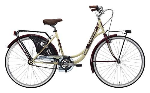 CINZIA Bici Bicicletta 26' CITYBIKE Liberty Donna MONOVELOCITA' Crema Amaranto