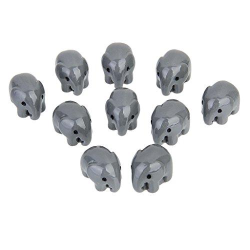 Sharplace Mikro Landschaft Mini Tier Figuren, Set/10Stück - Grau Elefanten