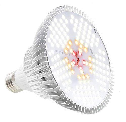 Derlights 100W LED Pflanzenlampe E27 Grow Light, 150 LEDs Vollspektrum Pflanzenlicht, Daywhite Grow Lampe Pflanzenlampen Wachstumslampe für Pflanzen Garten Gewächshaus Zimmerpflanzen (1Pack)