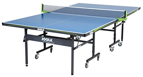 JOOLA Outdoor Table Tennis Table with Waterproof Net Set - 10 Minute Easy Assembly - All Weather Aluminum Composite Outdoor Ping Pong Table for Tournament Quality Play - Indoor & Outdoor Compatible