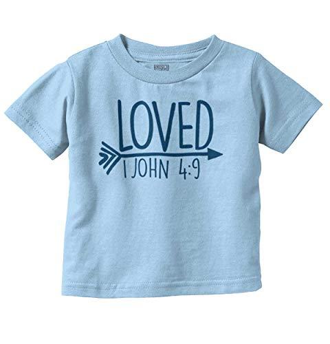 Brisco Brands Loved Bible Verse Christian New Baby Gift Toddler covid 19 (One Christian Toddler Shirt coronavirus)