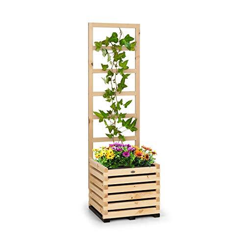 blumfeldt Modu Grow - Hochbeet & Spalier Set, Pflanzschale, Blumenkasten, Blumenkübel, inklusive Spalier / Rankhilfe, solides und haltbares Kiefernholz, 50 x 151 x 50 cm (BxHxT), Kiefer