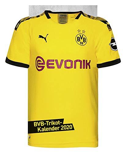 Borussia Dortmund Trikotkalender. Wandkalender 2020. Monatskalendarium. Spiralbindung. Format 34 x 42 cm