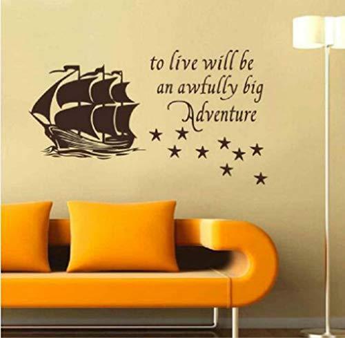 XCSJX Wall Home Decal Cita para vivir Será una aventura tremendamente grande...
