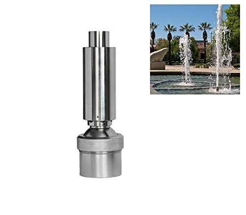 NAVAdeal 1 1/2' DN40 Stainless Steel Geyser Water Fountain Nozzle Spray Pond Sprinkler - for Garden Pond, Amusement Park, Museum, Library