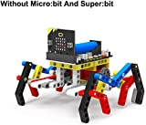RUIZHI Yahboom Micro: bit Robot Building Set, Spider Building Blocks 142 Piezas Set en Microbit BBC, STEM Educational Coding Learning Toy Kit para niños (Sin Micro: bit y Super: bit)