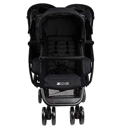 The Trio+ (Zoe XL3) - Best Triple Stroller - Everyday Triplet Stroller with Umbrella - Tandem Capable - UPF 50+