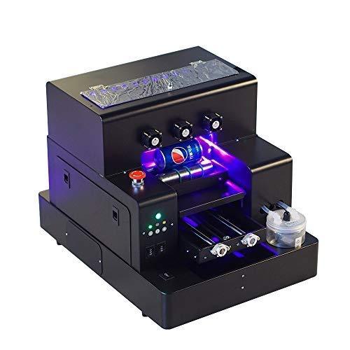 Impresora LED de Cama Plana UV Totalmente automática Syoon 2019 A4 con Efecto de Relieve para Botella, Caja del teléfono, Vidrio, Metal, Cuero, TPU, etc.