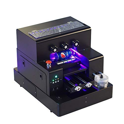 Syoon 2019 A4 Imprimante à Plat UV entièrement Automatique à LED avec Bouteille Effet gaufré Etui pour téléphone, Verre, métal, Cuir, TPU…