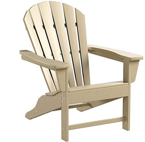 POLYWOOD SBA15SA South Beach Adirondack Chair, Sand
