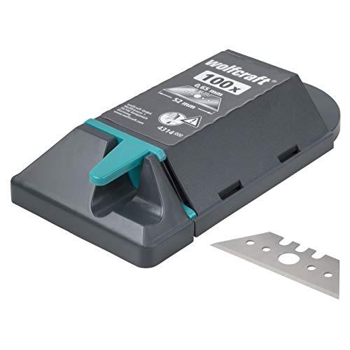 Wolfcraft (L) cuchilla trapezoidal profesional en caja dispensadora PACK 100