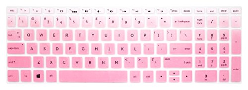 Silicone Keyboard Cover for 15.6' HP Pavilion X360 15-br075nr, HP Envy x360 15m-bp/bq, HP Spectre x360 15-ch011dx, HP Pavilion 15-cb 15-cc 15-cd 15-bw 15-bs & 17.3' HP 17m-ae 17-bs Series - Pink Ombre