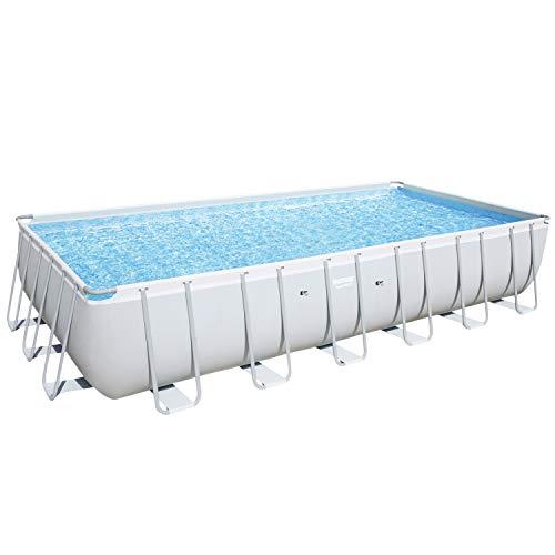 Bestway Power Steel Frame-Pool, 732 x 366 x 132 cm, rechteckig, grau, 30.045 Liter, ohne Pumpe und Zubehör, Ersatzteil, Ersatzpool