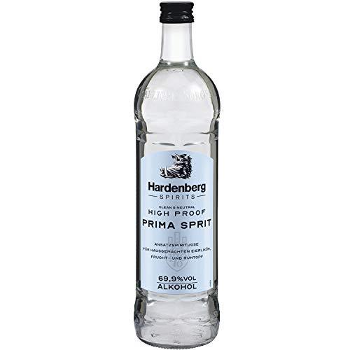 Hardenberg Spirits Primasprit 69,9% vol. High Proof hochprozentiger Alkohol / Ethanol / Weingeist, Basis für Desinfektionsmittel zum selber machen und Ansatzspirituose für eigenen Schnaps, (1 x 0.7 l)