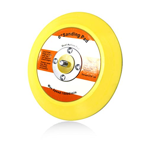 Maxshine Professional Yellow DA/Dual Action Dia: 6 inches/150mm Backing Pad-Ideal for All Brands of Dual Action Polisher