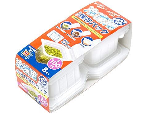 ストリックスデザイン 冷凍用 小分け 保存パック 日本製 Sサイズ 8枚 半透明 100ml 保存容器 電子レンジ対応 目盛り付き 積み重ね可 ご飯 おかず 離乳食 HT-130