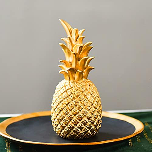 fuguzhu Deko Ananas Gold, Goldene Ananas Nordische Obstform Künstliche Goldene Ananas Dekoration Ornament Für Tisch Restaurant Hochzeit Party