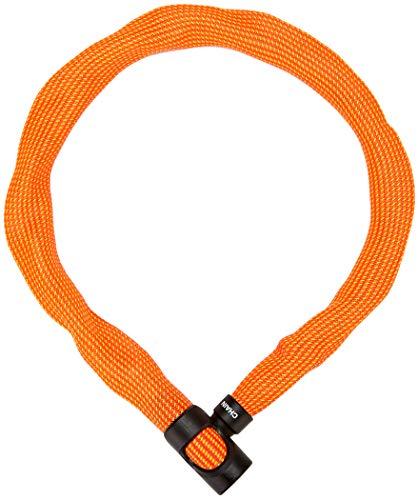 ABUS Kettenschloss Ivera Chain 7210/110 Sparkling Orange – Fahrradschloss mit Kunstfaserummantelung – Sicherheitslevel 8 – 110 cm – 87783 – Orange