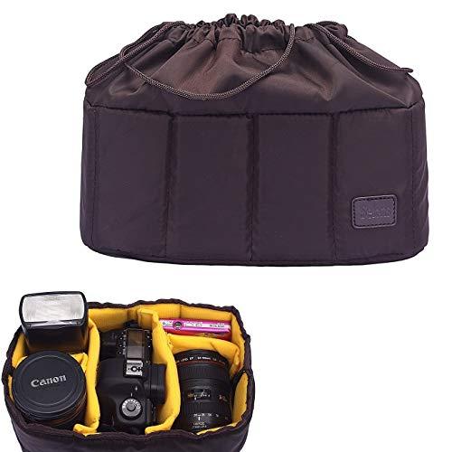 Selens Stoßfest Kameratasche Kamera Taschen, Partition Gepolstert Kamera Einstecktasche, Selbstgemachte Tragetasche für DSLR/SLR Kamera, Kameraobjektiv, Blitz