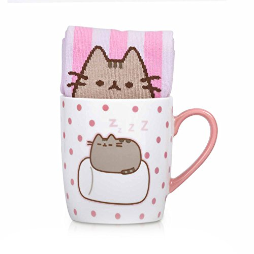 Thumbs up - Pusheen Home - Tasse mit Socke - Marshmallow