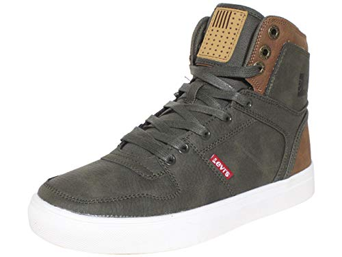 Levi's Mens Mason Hi Anti Fashion Hightop Sneaker Shoe, Olive/Tan, 9 M