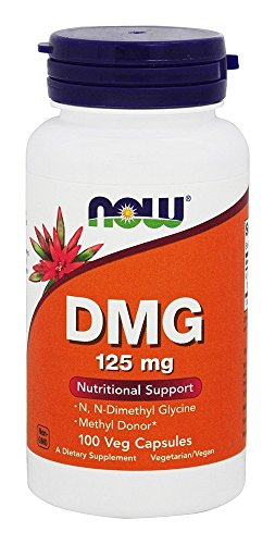 Now Foods Dmg (Dimethylglycine) Capsules, 125 Mg, 100-Count, 200 g
