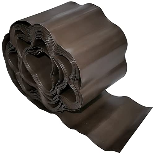 AERZETIX - C49970 - Barrière Anti-Racines et rhizomes 100mm x 9m pour pelouse - Protection/Rouleau Anti-Racine - barrière de contrôle des Racines - en Plastique - Couleur Marron
