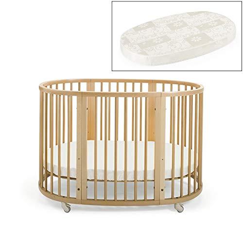 Stokke Sleepi Crib and Matress Bundle, Natural