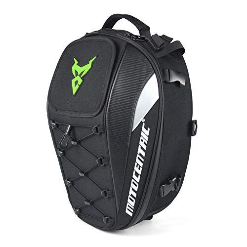 Akin Bolsa de asiento de motocicleta, bolsa de cola impermeable para motocicleta, bolsa de asiento trasero multifuncional y duradera, mochila de alta capacidad.