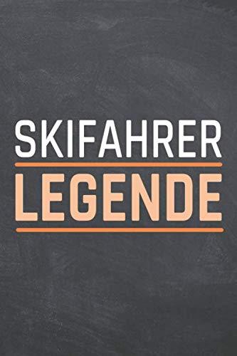 Skifahrer Legende: Skifahrer Punktraster Notizbuch, Notizheft oder Schreibheft - 110  Seiten - Büro Equipment & Zubehör - Lustiges Geschenk zu Weihnachten oder Geburtstag