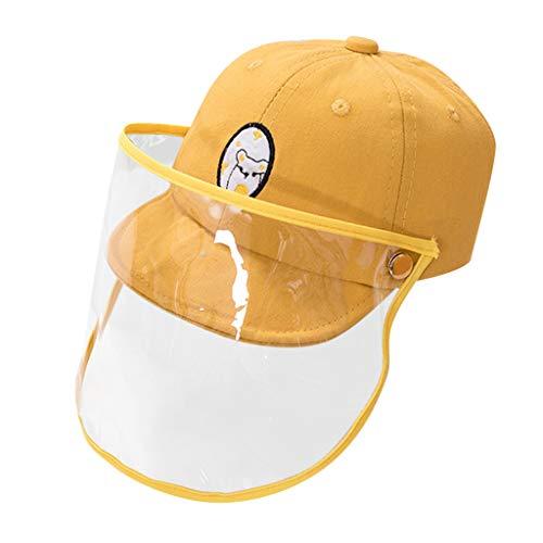 Kinderhut,Sonnenhut,Anti Saliva Gesichtsschutz, Anti-Staub und Anti-Allergie-Transparent Schutzhelm,