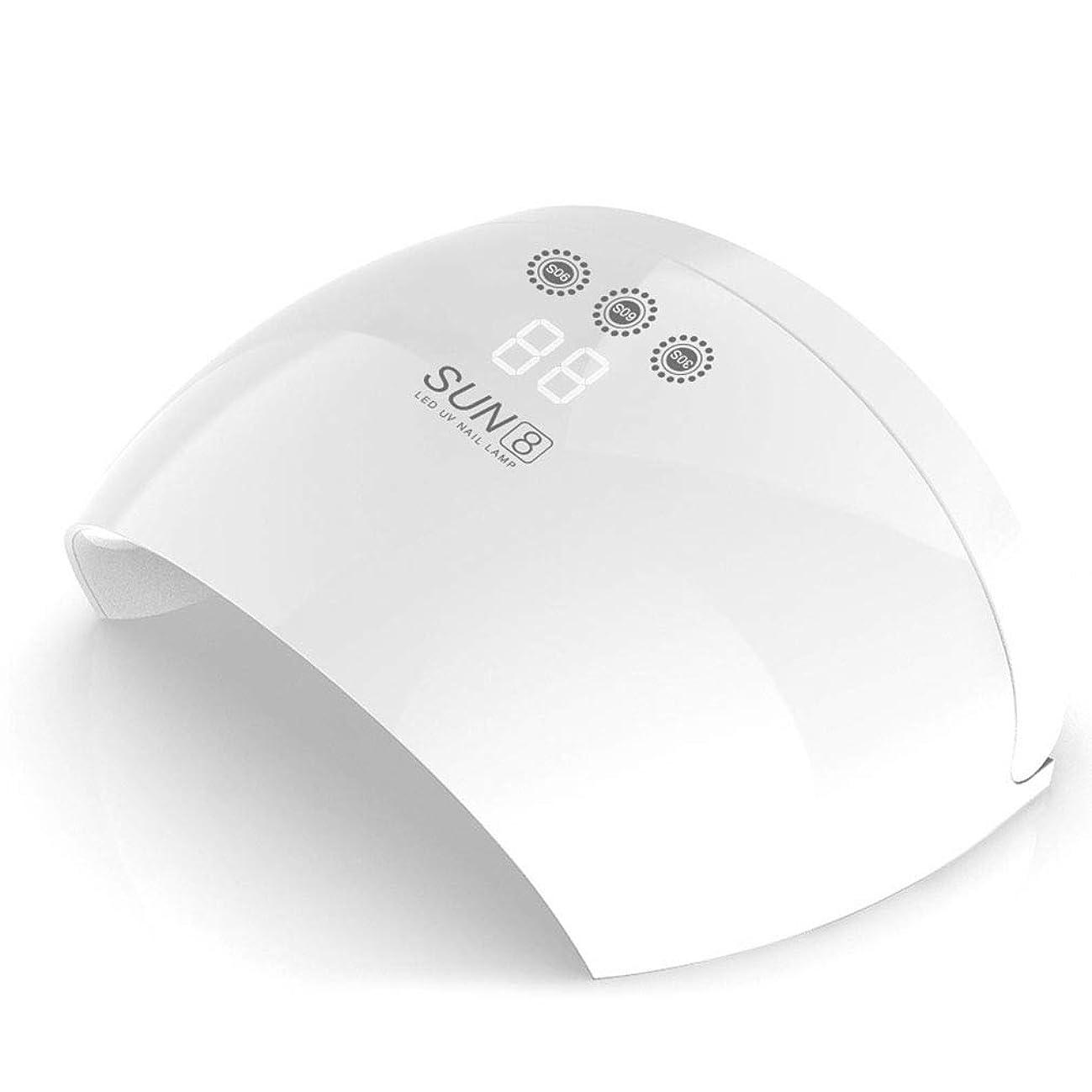 夜間委任する序文UV LEDネイルドライヤー、メモリタイマー付き30Wネイルドライヤー、LCDディスプレイ、自動センサー付きネイルポリッシュドライヤー,White