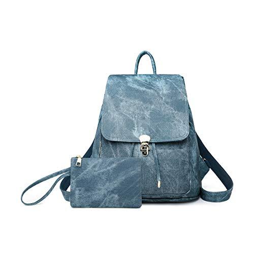 NICOLE & DORIS Rucksack für Damen wasserdichte Schulrucksack Leichtgewicht Umhängetasche Anti Diebstahl Daypack Blau