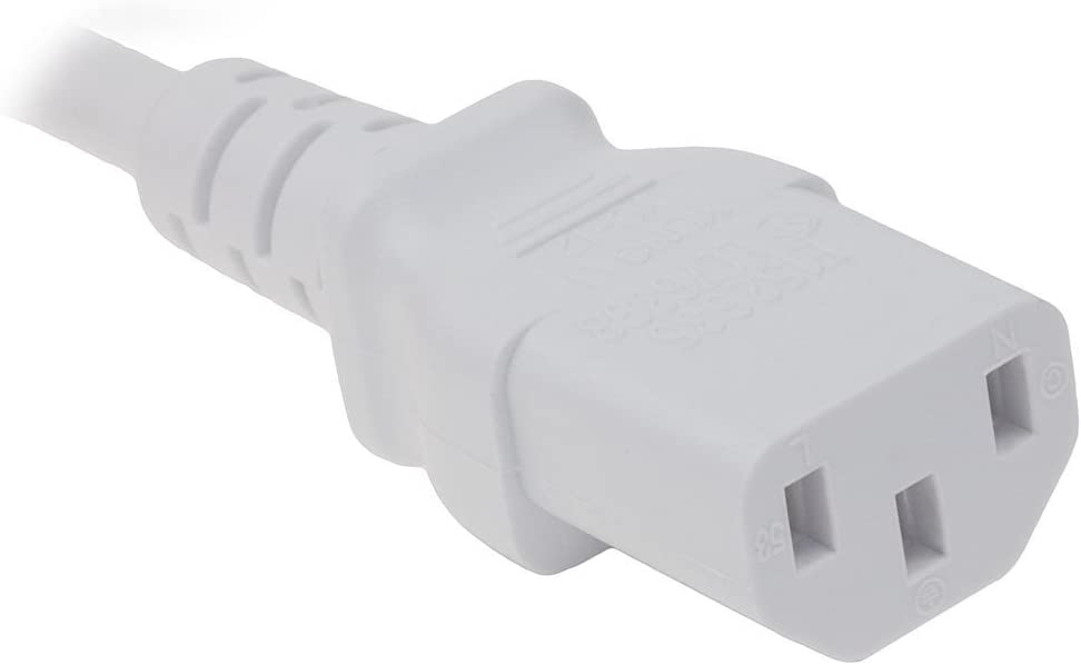 Omnihil 8 Feet AC Power Cord Compatible with ASUS VE248H LED Monitor - White