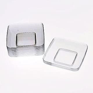 Exquisite Plastic Mini Square Appetizer Plates - 120 Ct Square plastic Dessert Plates - 2.4 Inch. x 2.4 Inch. (Clear)