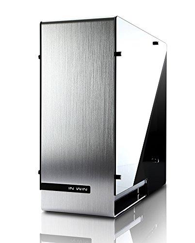 In Win-Tower Full 909 Argento-Case per PC In Full Tower-PC portatile, In alluminio e vetro temprato e base, ATX, EATX, Micro-ATX, Mini-ITX, argento)