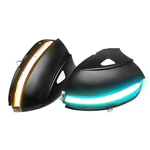 Ein Paar Spiegelblinker Auto Dynamische LED Blinkerleuchten für Scirocco EOS Passat B7