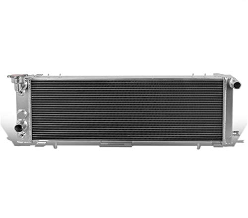 CoolingSky 52MM 3 Row Core Aluminum Radiator for 1991-01 Jeep Cherokee XJ & Comanche 2.5/4.0L - Direct Replacement